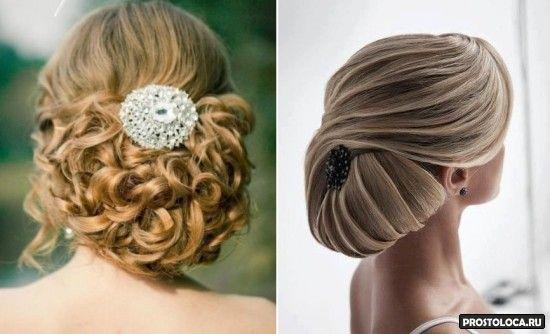 свадебные прически на средние волосы 4