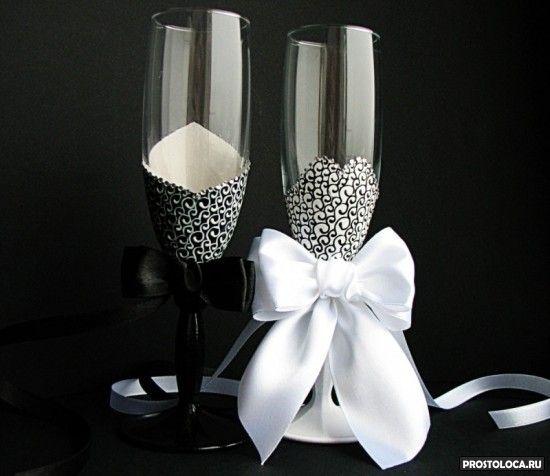 шикарные свадебные бокалы