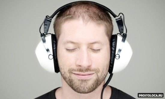 man in headphon