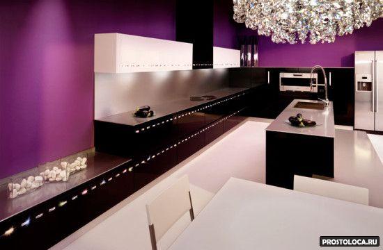 кухня в стиле гламур