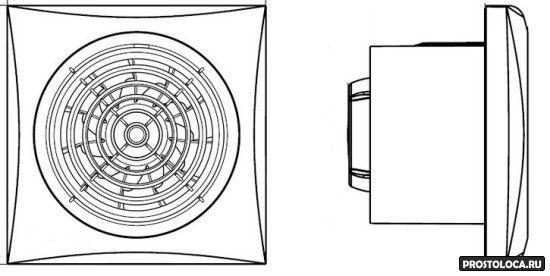 осевой накладной вентилятор