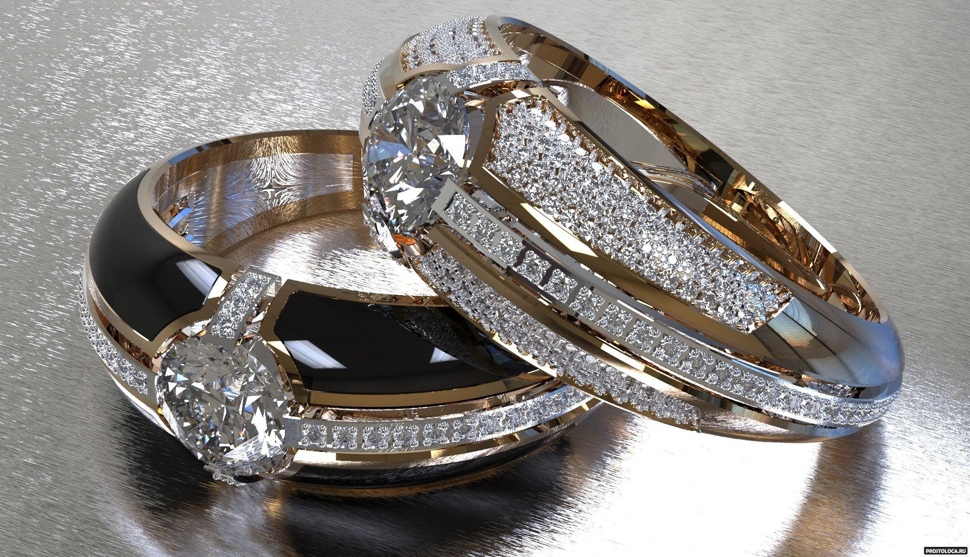 Фото обручальные кольца с бриллиантами