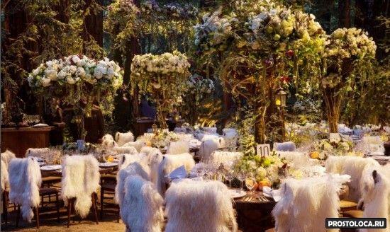 свадьба в стиле властелин колец в лесу 2