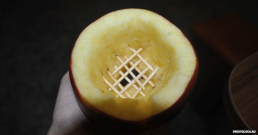 Как сделать чашу из яблока