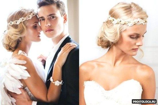 свадебные украшения на невесте
