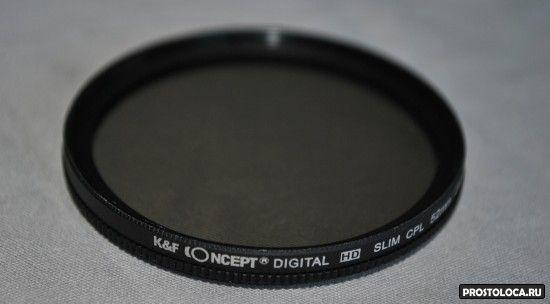 Поляризационный фильтра на объектив