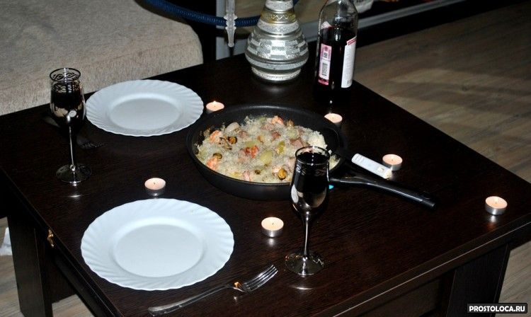 паэлья романтический ужин