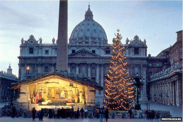 рождественская ель ватикана