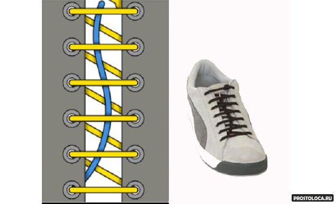 завзываем шнурки
