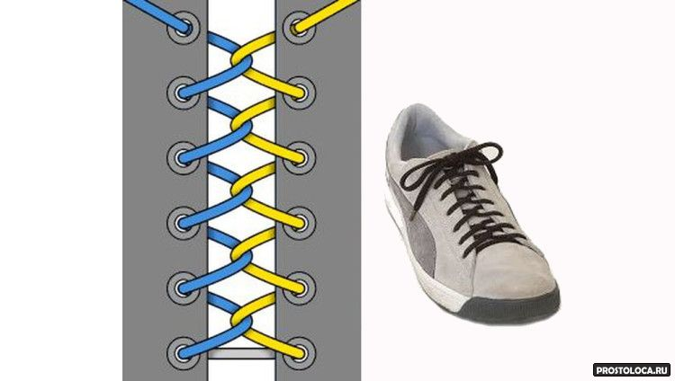 Как на ботинках сделать шнурки 762