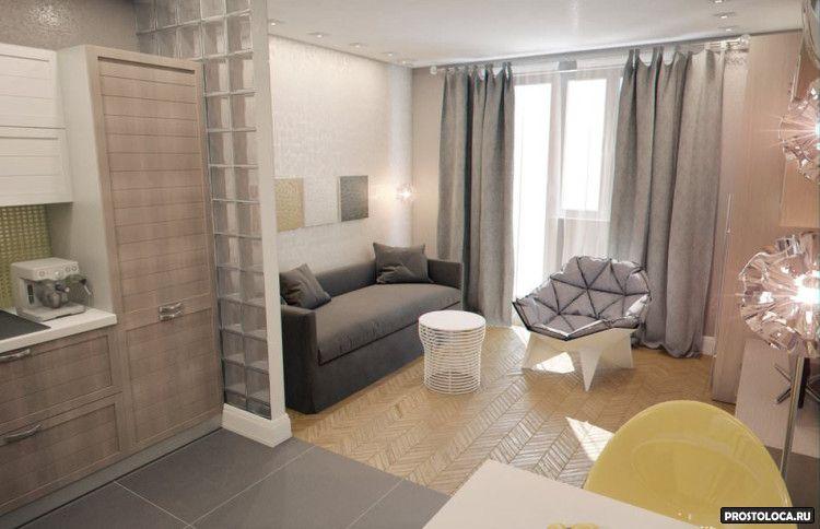 квартира-студия 30 м кв. дизайн фото