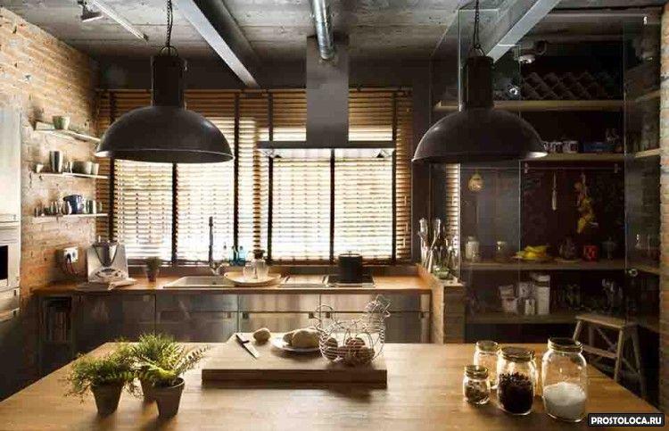 кухня в стиле лофт 19