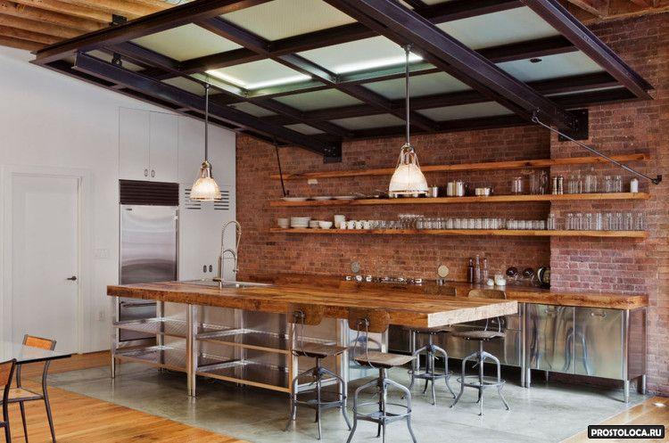кухня в стиле лофт 24