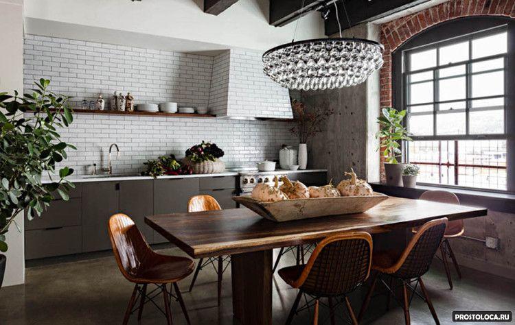 кухня в стиле лофт 27