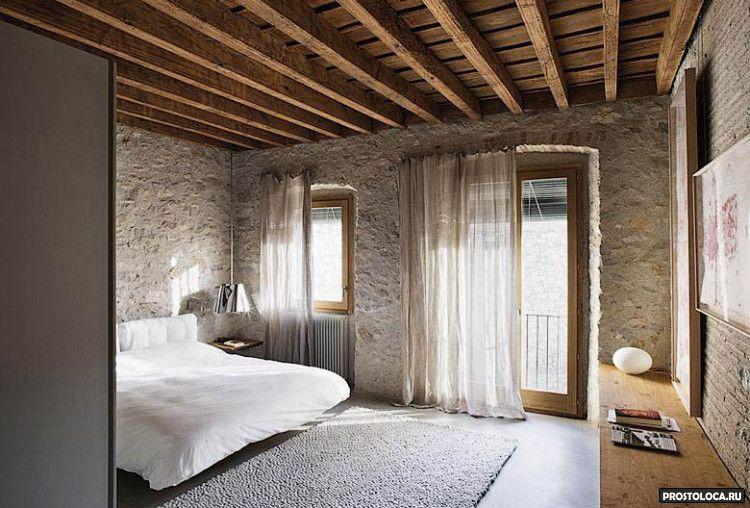 спальня в стиле лофт 14