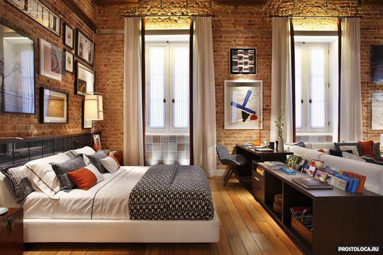 спальня в стиле лофт 6