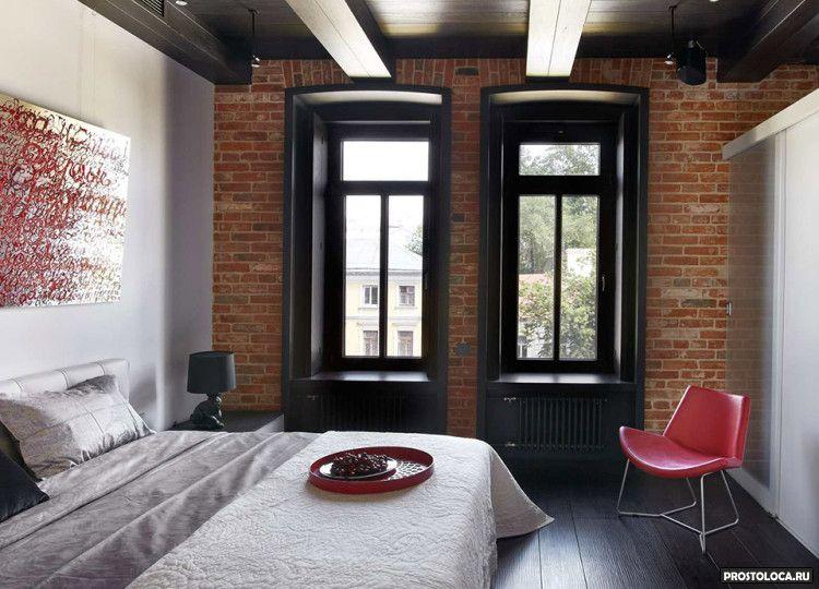 спальня в стиле лофт 8