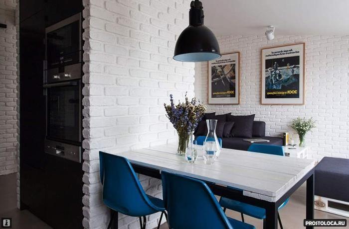Белые стены на кухне фото