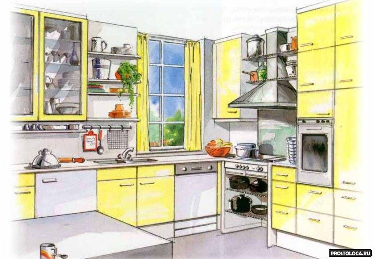 как спланировать кухню