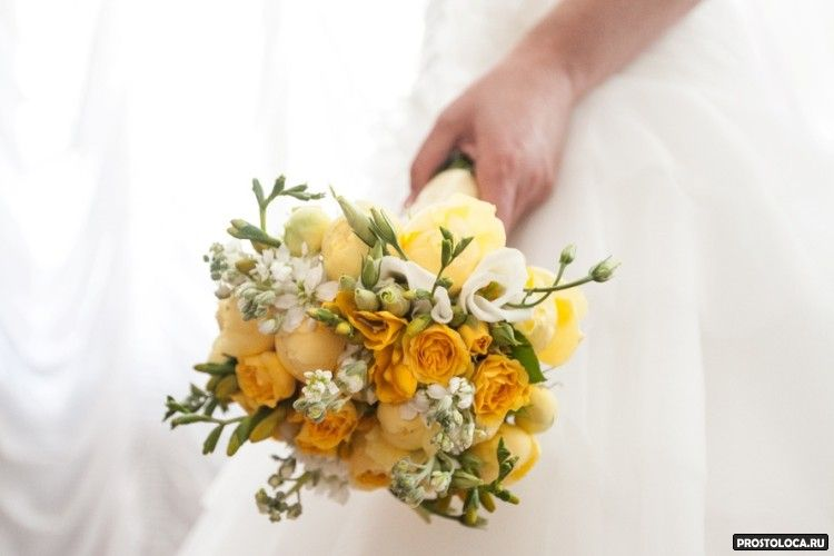 желтый свадебный букет 2