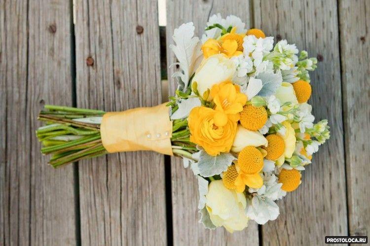 желтый свадебный букет 3