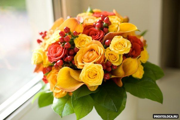 желтый свадебный букет 7