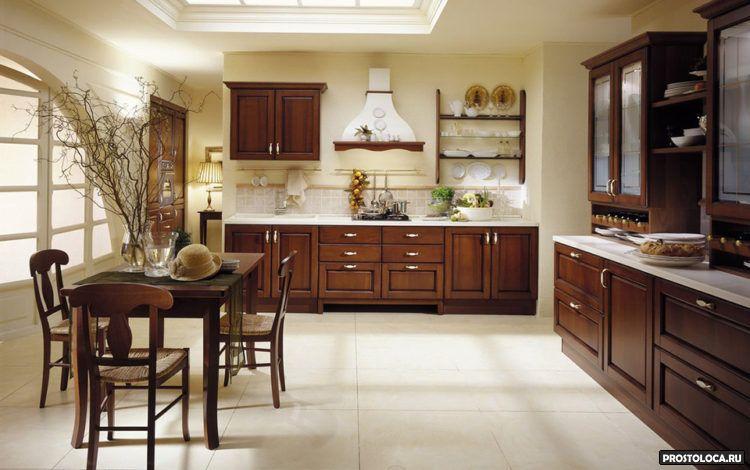 кухня в классическом стиле 12