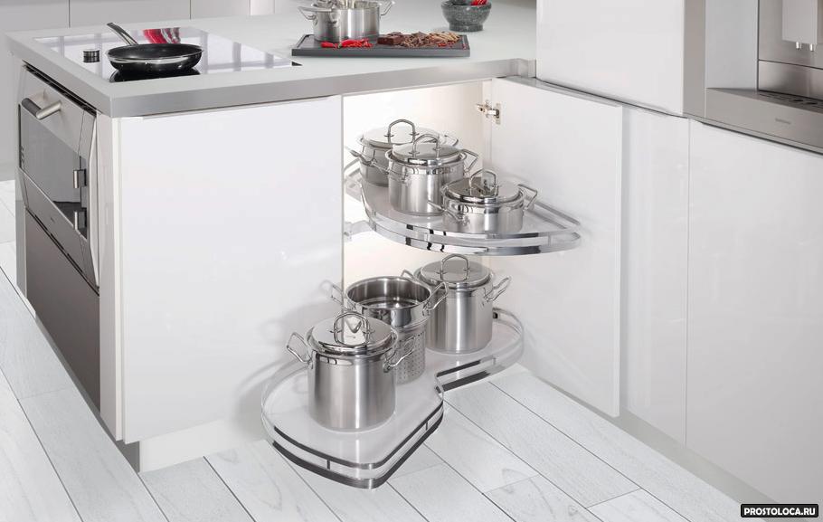 удобные кухонные шкафы