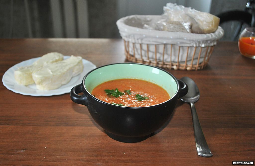 французский томатный суп